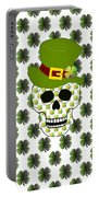 St Paddys Skull  Portable Battery Charger