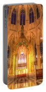 St Patrick's Cathedral Manhattan New York Portable Battery Charger