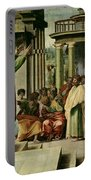 St. Paul Preaching At Athens  Portable Battery Charger by Raphael