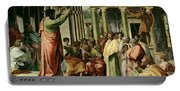 St. Paul Preaching At Athens  Portable Battery Charger
