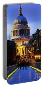 St. Paul's Cathedral From Millennium Bridge Portable Battery Charger