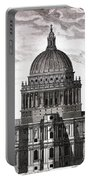 St. Pauls Drawn By Christopher Wren Portable Battery Charger