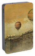 St Petersburg With Air Baloons Portable Battery Charger by Jeff Burgess