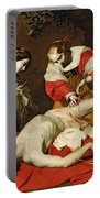 St Sebastian Tended By The Holy Irene Portable Battery Charger by Nicholas Renieri