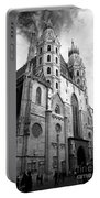 St Stephens Cathedral Vienna In Black And White Portable Battery Charger