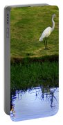 St Thomas Great Egret At The Lake Portable Battery Charger