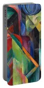 Stables By Franz Marc Bright Painting Of Horses In A Stable Portable Battery Charger