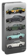 Stack Of Mazda Savanna Gt Rx-3 Coupes Portable Battery Charger