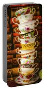 Stacked High Tea Cups Portable Battery Charger