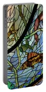 Stain Glass Set 1 - Bath House - Hot Springs, Ar Portable Battery Charger