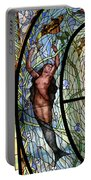 Stain Glass Set 3 - Bath House - Hot Springs, Ar Portable Battery Charger