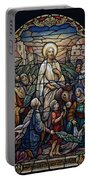 Stained Glass - Palm Sunday Portable Battery Charger