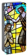 Stained Glass Beauty #9 Portable Battery Charger