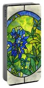 Stained Glass Bluebonnet Portable Battery Charger