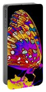 Stained Glass Butterfly Portable Battery Charger