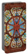Stained Glass Ceiling Window Portable Battery Charger