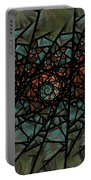 Stained Glass Floral I Portable Battery Charger