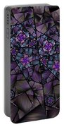 Stained Glass Floral II Portable Battery Charger