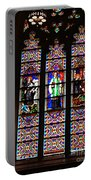 Stained Glass Glory Of St Patricks Portable Battery Charger
