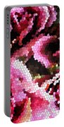 Stained Glass Roses 2 Portable Battery Charger