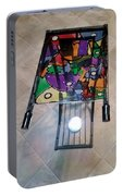 Stained Glass Sofa Table Portable Battery Charger