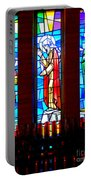 Stained Glass Triptych Portable Battery Charger