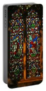 Stained Glass Window Christ Church Cathedral 2 Portable Battery Charger
