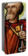 Stained Glass Window, St Peter Portable Battery Charger