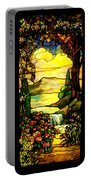 Stained Landscape Portable Battery Charger