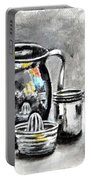 Stainless Steel Still Life Painting Portable Battery Charger
