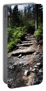 Stair Stone Walkway In The Forest Portable Battery Charger