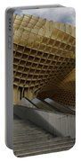 Stairway Leading Up To Metropol Parasol In The Plaza Of The Inca Portable Battery Charger