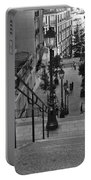 Stairway On Montmartre Portable Battery Charger