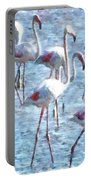 Stand Out In The Crowd Flamingo Watercolor Portable Battery Charger