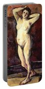 Standing Nude Woman Portable Battery Charger