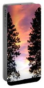 Standing Tall At Sundown Portable Battery Charger