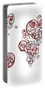Stanford University Colors Swirl Map Of The World Atlas Portable Battery Charger