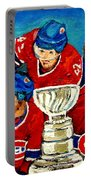 Stanley Cup Win In Sight Playoffs   2010 Portable Battery Charger by Carole Spandau