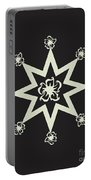 Star Flower - Ebony And Ivory Portable Battery Charger