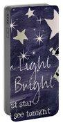 Star Light Star Bright Chalk Board Nursery Rhyme Portable Battery Charger