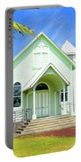 Star Of The Sea Painted Church Portable Battery Charger