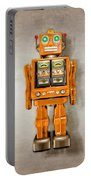 Star Strider Robot Orange Portable Battery Charger