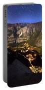 Star Trails At Yosemite Valley Portable Battery Charger