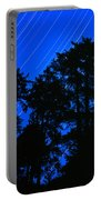 Star Trails Behind Ruby Beach Tree Group Portable Battery Charger