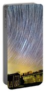 Star Trails Over Custer Observatory Portable Battery Charger