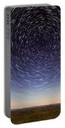 Star Trails Over Mountains Portable Battery Charger