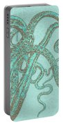 Stardust Tentacles, Aqua Watercolor Octopus Coated With Stardust Portable Battery Charger