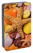 Starfish And Seashells  Portable Battery Charger
