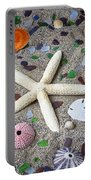 Starfish Beach Still Life Portable Battery Charger by Garry Gay