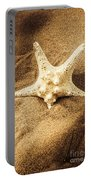 Starfish In Sand Portable Battery Charger